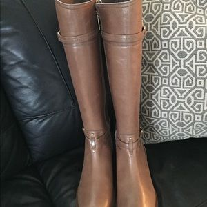 Geougous New Tory Burch Brown Leather Boots